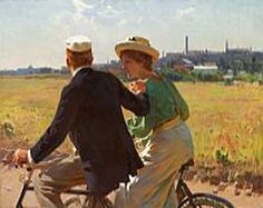 Erik Henningsen (1855-1930): The morning ride