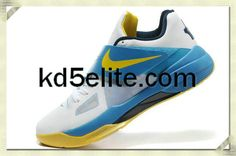 Nike Cheap KD 4 White Yellow Kevin Durant New Shoes