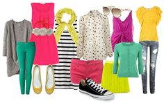 what to wear for family portraits - bright and fun colors can bring life to your photos!! and sometimes not matching.. matches :)