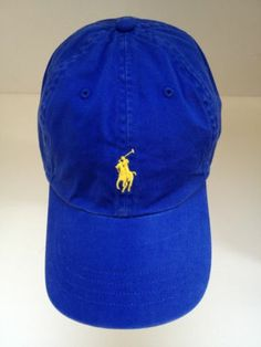 Polo Ralph Lauren Royal Blue Women s Cap Authentic Hat with Horse Logo and  Tag  8f450c7462e
