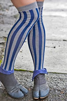 Vertical Stripe Tabi OTK