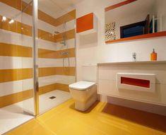 Baño de colores : Baños de estilo moderno de PRIBURGOS SLU