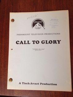 CALL TO GLORY Original TV Script Screenplay Memorabilia, Craig T. Nelson 1984