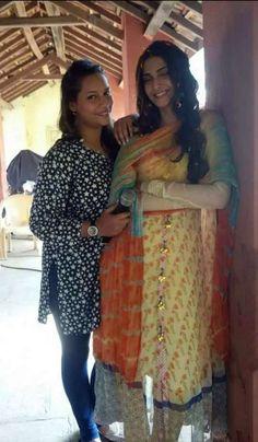 Sonam Kapoor on the sets of 'Prem Ratan Dhan Payo'. #Bollywood #Fashion #Style #Beauty