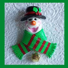 Hey, I found this really awesome Etsy listing at https://www.etsy.com/listing/206143409/christmas-snowman-magnet-black-hat