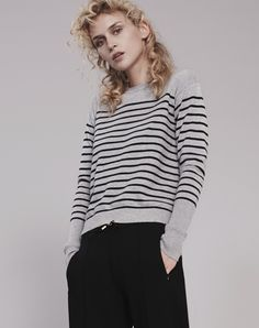 The Fit+ Fits true to size + Those with a petite frame may wish to take a size down+ Model pictured is a size 8 wearing a size 8 Style NotesThe classic Breton has been updated for t