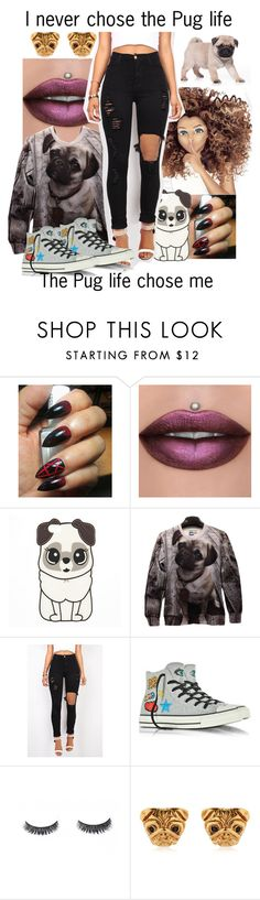 """""""Pug life"""" by poycoy on Polyvore featuring Vibrant and Converse"""