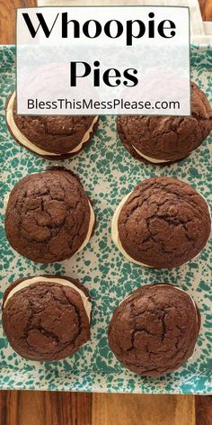 Whoopie Pies are giant bakery style chocolate cookies with a delicious, light, and fluffy icing in the center. Every bite is a party in your mouth! #cookies #cookiesandwich #chocolate #baking Chocolate Cookies, Chocolate Recipes, Cookie Recipes, Dessert Recipes, Desserts, Sweet N Sour Sauce Recipe, Fluffy Icing, Healthy Food, Cookies