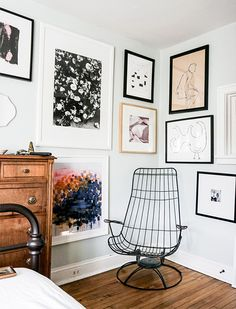 9 Creative Ways to Dress Up Your Walls - minus the cute chair that looks a little uncomfortable for the toosh!