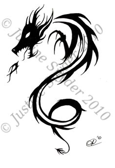 30 Best Simple Dragon Tattoo Drawings Images Dragon Tattoo Drawing