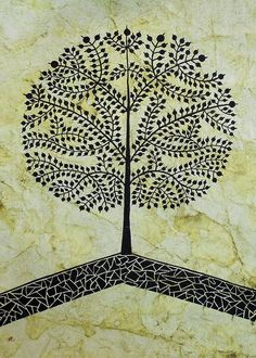 TREE OF LIFE-Warli Contemporary painting Greeting Card