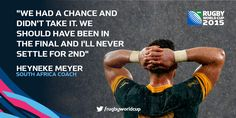 #RSA came up just short after an epic battle - but it's no consolation for @Springboks coach Heyneke Meyer...