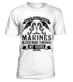 MARINES - My Veins Name Shirts