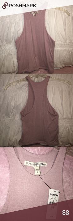 Express Crop top *Brand new w/ tags* Express crop top. Color: blush-beige. Racerback. Brand new w/ tags Express Tops Crop Tops