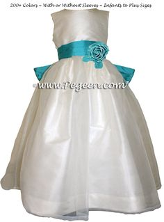 Tahiti Silk Flower Girl Dresses by Pegeen.com Style 359
