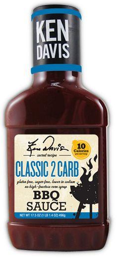 Ken Davis BBQ - 2Carb BBQ Sauce