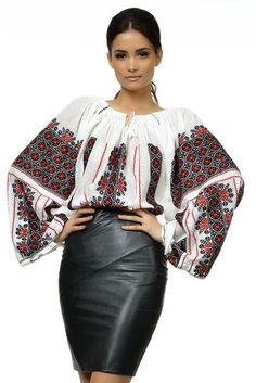 Ukrainian style, vyshyvanka, Ukraine, hand made Folk Fashion, Ethnic Fashion, Womens Fashion, Embroidery On Clothes, Embroidered Clothes, Ethno Style, Quoi Porter, Bohemian Mode, Folk Costume