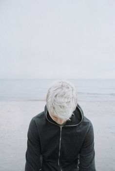 The boy with the frosty white hair.  (LOOKS LIKE A REAL LIFE JACK FROST!)