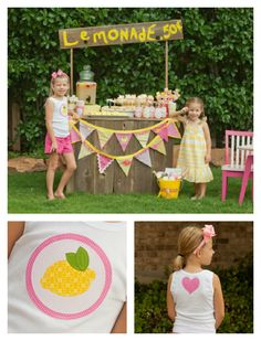 Lemonade Stand party by Giggle Galore with Modern Frills tee