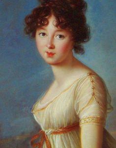 Aniela Czartoryska, nee Radziwiłł - Élisabeth Louise Vigée-Lebrun, 1802.  buttons on sleeves