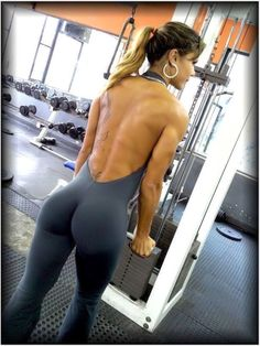 strongangels:  That's a nice butt.   Who the hell would be able to work out looking at that
