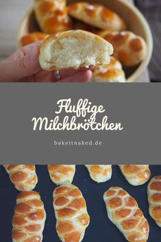 Fluffy milk buns / milk braids - Bake it naked-Fluffige Milchbrötchen / Milchzöpfe – Bake it naked Fluffy, soft milk rolls with spelled flour, without refined sugar - Breakfast Desayunos, Breakfast Recipes, Breakfast Ideas, Milk Roll, Milk Bun, Toast Pizza, Maila, Vegetable Drinks, Healthy Eating Tips