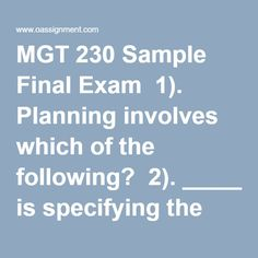 mgt 521 final exams Use the listing below to determine the final exam schedule for your class exams will take place in the rooms in which the  fall 2017 final exam schedulexlsx.