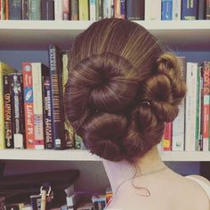 Off coiled bun, the style of the month for June, and one escaped curl. Bun Hairstyles For Long Hair, Pretty Hairstyles, Long Hair Community, Big Bun, Natural Highlights, Hair Reference, Long Locks, Very Long Hair, Shelfie