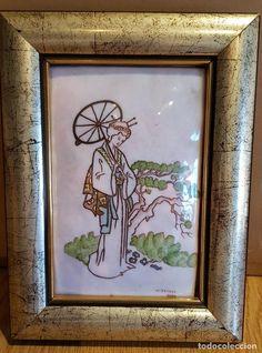 Generous Bonito Antiguo Marco De Fotos Marcos Con Imagen Pintura Dibujo Muebles Antiguos Y Decoración Espejos