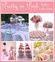 Pink Baby Shower on http://pizzazzerie.com