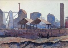 Early Morning at Abbey Mills by Elwin Hawthorne - 1928