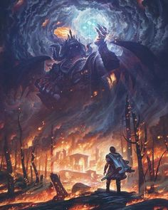 """""""Morgoth and the Silmarils""""⠀ By Justin Gerard⠀ ⠀ can find Middle earth and more on our website.""""Morgoth and the S. Dark Fantasy Art, Fantasy Artwork, High Fantasy, 3d Artwork, Fantasy World, Medieval Fantasy, Dark Artwork, Space Fantasy, Final Fantasy Art"""