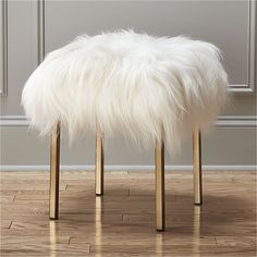 sheepskin stool  | CB2