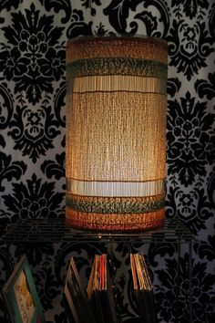 Vintage 1970s Mid Century Rasta Style Hanging Lamp by TheBlackVinyl, $60.00