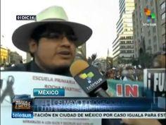 Multitudinaria marcha contra Peña Nieto en México