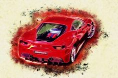 A Stunning Display Of BMW Z GT Car Art By Artist Flores - Fast car artist