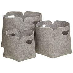 Buy John Lewis Felt Storage Boxes, Set Of 3 Online At Johnlewis.com
