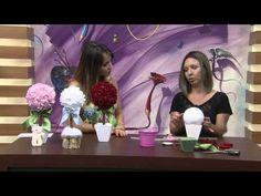 Mulher.com 08/12/2014 - Topiares de Flores de Feltro por Karina Raszl - YouTube