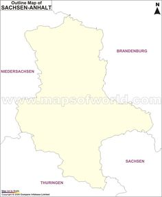 Outline map of Germany depicts the international borders of the ...