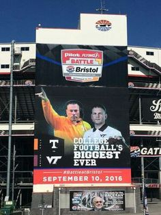 Battle at Bristol, Tennessee Volunteers vs Virginia Tech