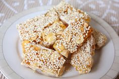 CNY snacks & cookies - Chinese Peanuts and Sesame Candy Bars