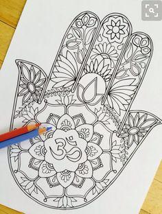 Hamsa hand tattoo #hamsa #hamsahand #tattoo #blackandwhite #detailed #beautiful…