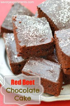 Red Beet Chocolate Cake - Chocolate cake with an entire serving of veggies! Savory Experiments