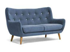 Retro Sofa Frenco 3-Sitzer blau  Bild 1 Perfekt für die neue Wohnung :-)