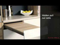 Mereway Kitchens Segreto Pull Out Table - YouTube