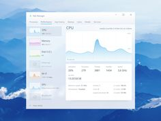 Windows Task Manager redesign by vadimsleva on Dribbble Ui Components, Ui Inspiration, Jobs Hiring, Ui Kit, Window Design, Apps, Show And Tell, Interactive Design, One Design
