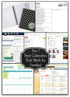 You truly cannot be an organized Mom if you don't have a good calendar system. And when you are also trying to manage the schedule for your entire family it is even more important that you are using a great family calendar that works for you! Here are the 7 Best Calendars That Work for Families!