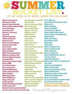 100 Fun Things To Do This Summer (Printable Bucket List!)