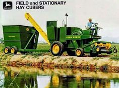 JOHN DEERE Field and Stationary Hay Cubers Ad