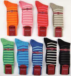 Striped Groomsmen socks - green? Groomsmen Socks, Groom And Groomsmen, Luxury Socks, Striped Socks, Cool Socks, Chicago Wedding, Carrot, Navy And White, Flamingo